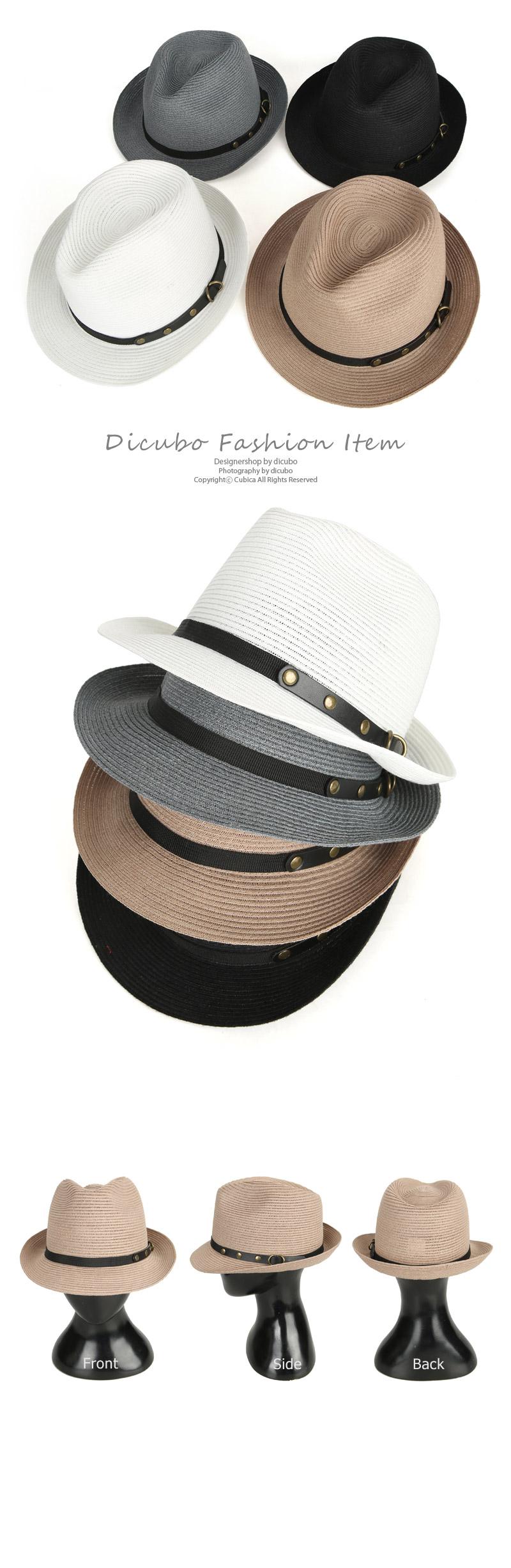 찡 배색 라인 숏챙 페도라 모자 JAN279 - 디꾸보, 27,800원, 모자, 페도라/베레모