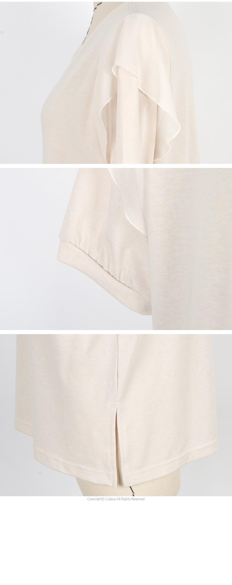 빅사이즈 윙 장식 반팔 티셔츠 NB253 - 네오쿠비카, 19,120원, 상의, 반팔티셔츠