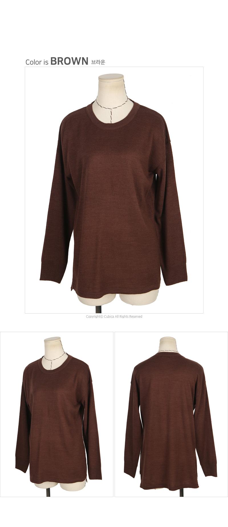 빅사이즈 밑트임 긴팔 니트 티셔츠 A115 - 네오쿠비카, 24,800원, 상의, 긴팔티셔츠